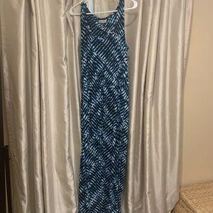 Calvin Klein Long Blue Maxi Dress Size 12